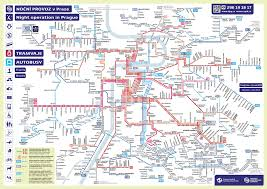 Prague Subway Map by Student Flats Cz Transport Guide