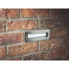 dakota led brick light stainless steel 2 7w screwfix ie