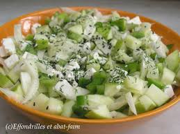 cuisiner le fenouil cru salade fenouil pomme poivron et fêta effondrilles et abat faim