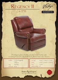 barcalounger regency ii leather recliner chair leather recliner