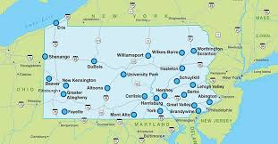 map of pa locations throughout the state penn state