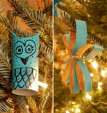 two styles of diy toilet paper roll ornaments