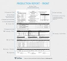 sound report template daily production reports explained free template sethero