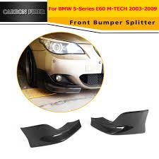 2pcs carbon fiber front splitters flaps for bmw e60 e61 m tech m