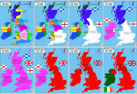 Map Of The British Isles Unification Of The British Isles Since 800 A D Vivid Maps