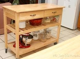 kitchen 24 natural wood top kitchen cart island w optional