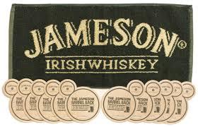 jameson irish whiskey pub bar towel u0026 10 beer mats coasters u003e pub