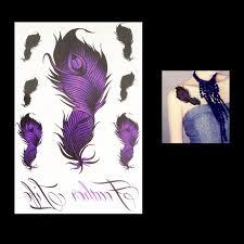 arti tato bulu merak 1 pc sementara besar ungu bulu merak kecantikan wanita body art