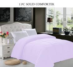 Solid Pink Comforter Twin Celine Linen Goose Down Alternative 1pc Solid Lilac Comforter