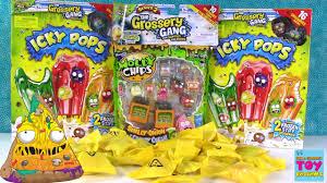 grossery gang palooza icky pops u0026 moldy chips opening