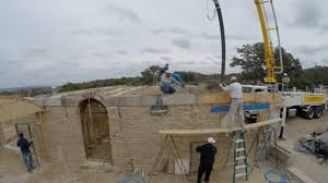 bond beam on a compressed earth block house time lapse youtube