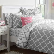 Pink And Gray Comforter Twin Gray Bedding Pbteen