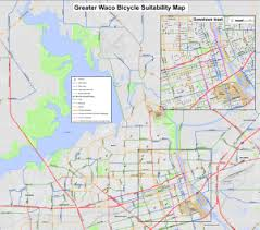 map waco waco and mclennan county bicycle suitability maps waco bicycle club