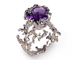 amethyst engagement rings cup amethyst engagement ring purple amethyst ring yellow