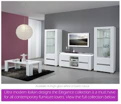 Gloss White Living Room Furniture White High Gloss Dining Furniture And Sets Em Italia White