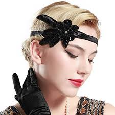 1920s hair accessories babeyond 1920s flapper applique headband beaded great gatsby