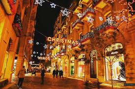 Christmas Town Decorations Beirut Down Town Christmas Decorations Lebanon In A Picture