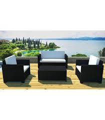 table pour canapé salon de jardin résine tressée canapé 2 fauteuils et table basse