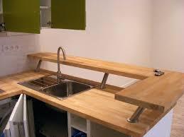 cuisine en forme de l plan de travail cuisine bois massif le plan de travail est en bois