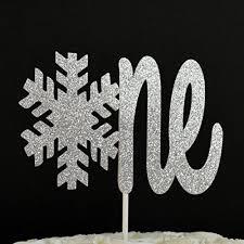 snowflake cake topper snowflake one silver glitter paper winter