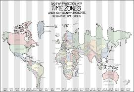 America Time Zone Map by 1799 Bad Map Projection Time Zones Explain Xkcd