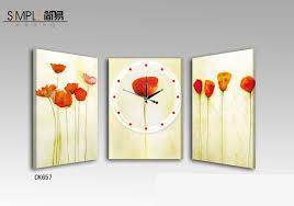 frameless pictures simple frameless painting clock 3pcs set 133 wholesale simple