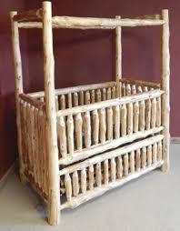 Convertible Baby Crib Rustic Canopy Convertible Log Baby Crib Barn Wood Furniture