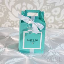 gable box with window baby shower gable box favors in light teal and white
