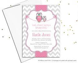 baby shower invitations for baby girls owl baby shower