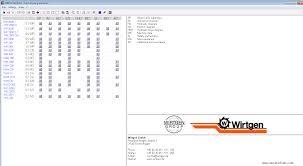 wirtgen widos tecnical documentation 2013 spare parts catalog