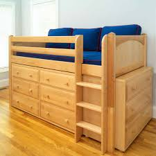twin low loft bed with built in dressers by maxtrix kids natural