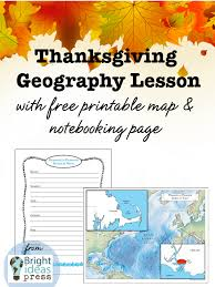 thanksgiving geography lesson bright ideas press