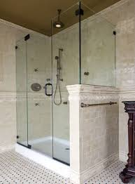 Non Glass Shower Doors Best Non Glass Shower Doors Contemporary Bathroom With Bathtub