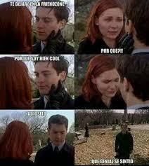 Peter Parker Meme Face - dejar alguien en la friendzone nivel peter parker meme by