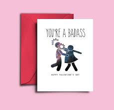 s day cards for friends valentines day card for women printable badass card for best