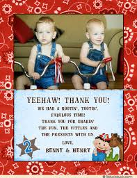 sheriffs birthday thank you card party two brothers
