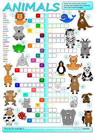 Esl Homonyms Worksheet 2019 Free Esl Animals Worksheets
