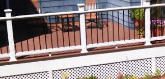 deck rails solid white vinyl rails ipe rails