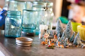 decorations diy jar snow globe for occasion with