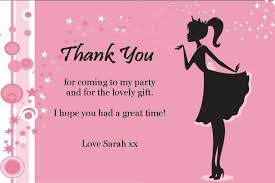 thank you cards personalised pink princess thank you cards
