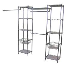 Wire Shelving Lowes by Industrial Bedroom With Deluxe Metal Lowes Closet Organizers In
