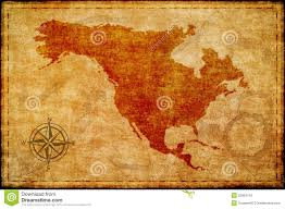 Maps On Us Old North America Map On Parchment Stock Photography Image 32063142