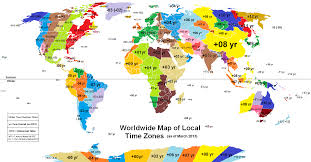 Italy Time Zone Map by Map World Concept Time Zones Clock Faces Grey Physical How Wrong