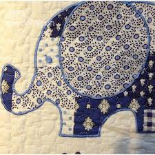 applique in cotto embroidery and applique elephant cotto 3 bed in a bag