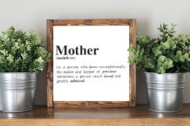 mother quote mom definition mother u0027s day gift framed artwork