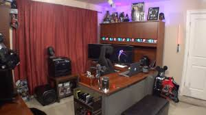 excellent gaming setup room tour home office july 2015 youtube for