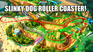Disney Hollywood Studios Map Slinky Dog Roller Coaster Animation Pov Toy Story Land Disney