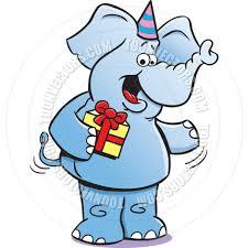 cartoon birthday elephant by kenbenner toon vectors eps 6065