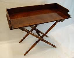 19th century mahogany english butler u0027s tray table on folding