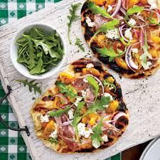 California Pizza Kitchen Tostada Pizza Grilled Peach Chutney Pizza U0026 Prosciutto U0026 Goat Cheese Recipe